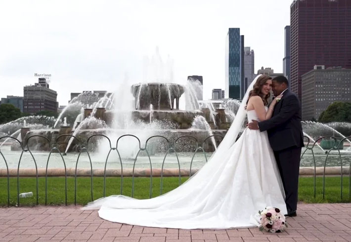 Carly + Needom (or Oscar?) | The Hilton Chicago Wedding Videography